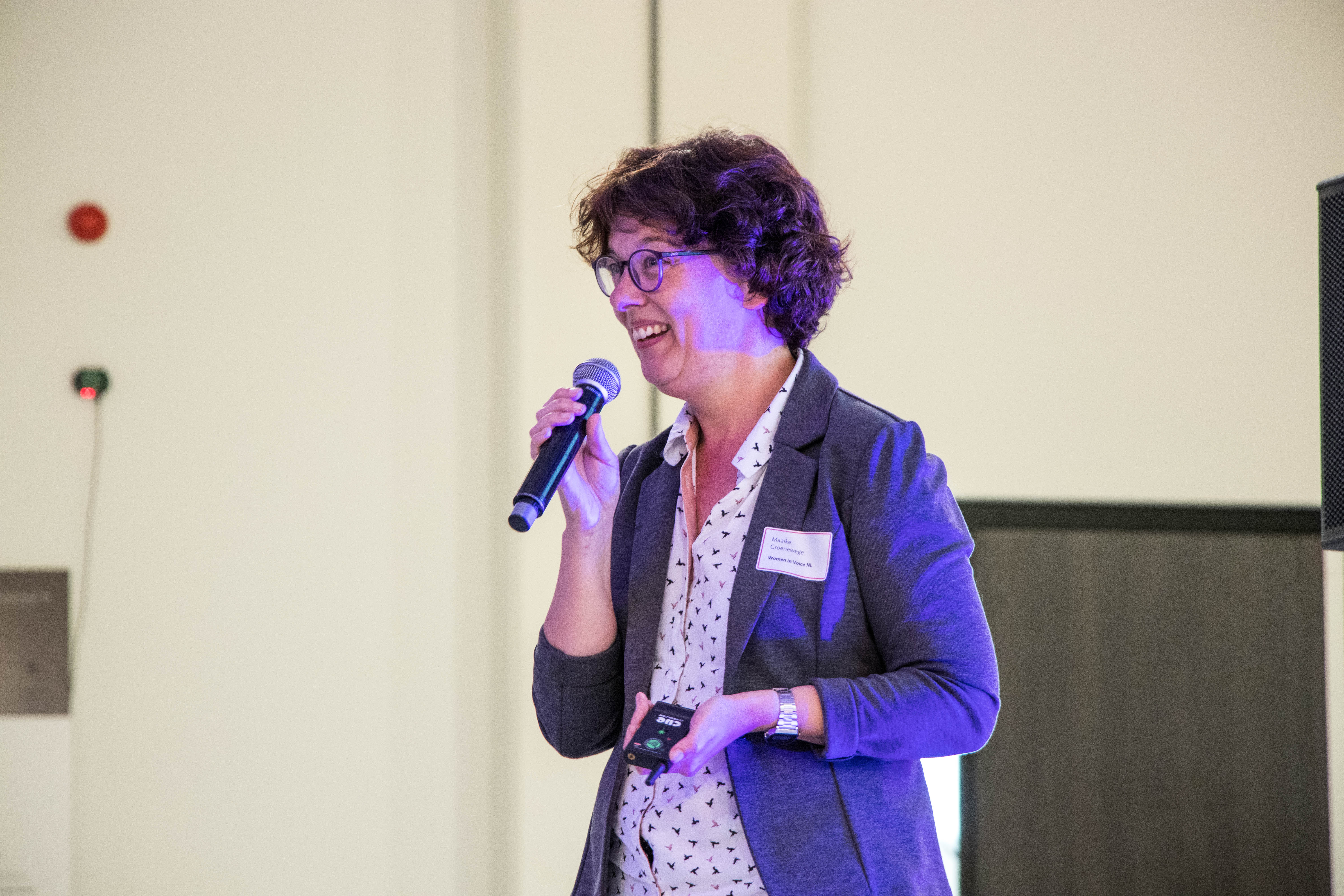 Maaike Groenewege, Information Analyst at NS and the initiator and ambassador of Women in Voice Nederland