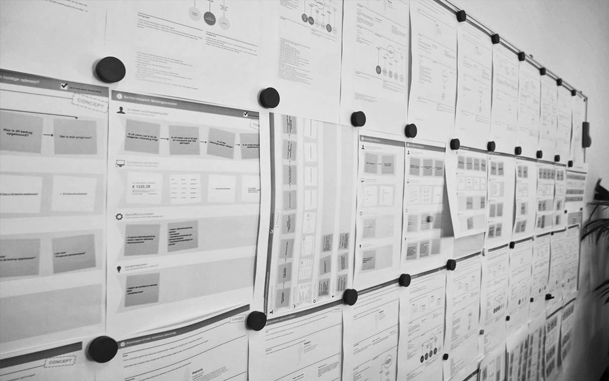 Service blueprinting mirabeau for apg we designed blueprints for 33 modules that together form their new customer portal na snapshot of a service blueprint malvernweather Gallery
