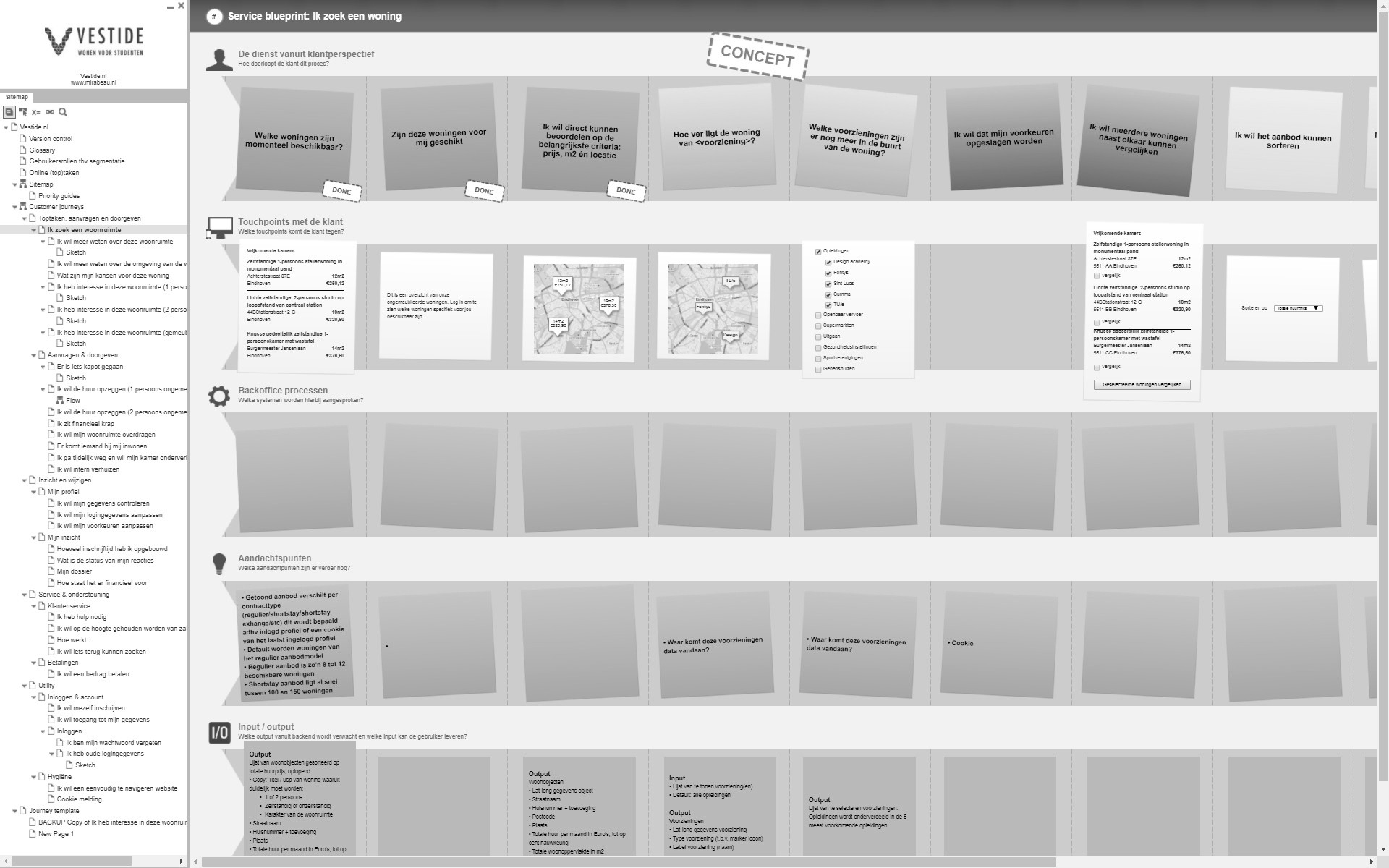 Service blueprinting mirabeau na snapshot of a service blueprint about the journey of a house hunter for vestide malvernweather Images